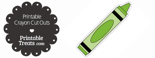 free-printable-green-crayon-cut-outs