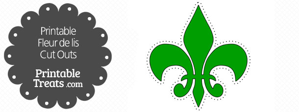 free-printable-green-fleur-de-lis-cut-outs