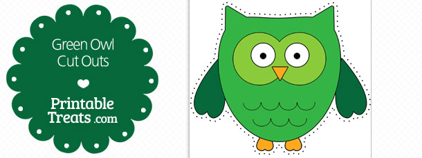 free-printable-green-owl-cut-outs