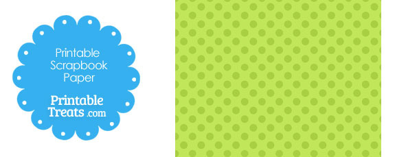 Printable Green Polka Dot Paper from PrintableTreats.com