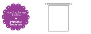 Printable Hanging Banner Outline