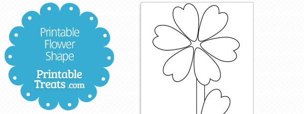 printable heart shaped leaf flower template printable treats com