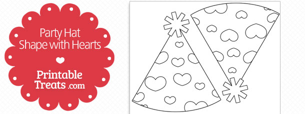 free-printable-hearts-party-hat-shape