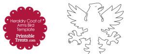 Printable Heraldry Coat of Arms Bird