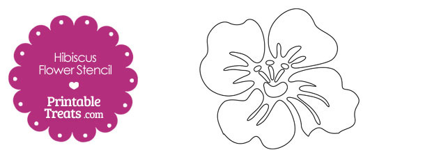 photo relating to Printable Flower Stencils known as Printable Hibiscus Flower Stencil Printable