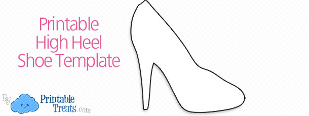 Free Printable High Heel Shoe Template