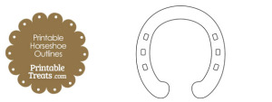 Printable Horseshoe Outlines