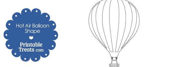 Printable Hot Air Balloon Shape Printable Treats Com