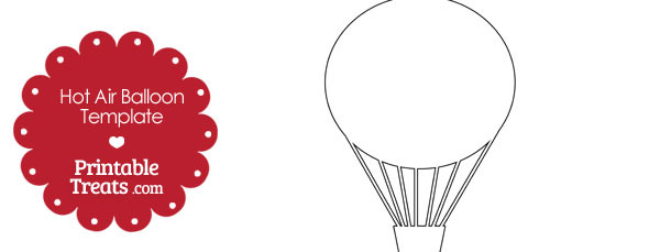 Printable Hot Air Balloon Template
