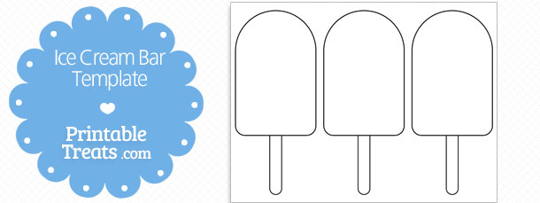 picture about Ice Cream Template Printable identified as Printable Ice Product Bar Form Template Printable