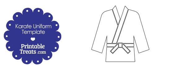 Printable Karate Uniform Template Printable Treats Com
