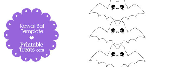 Printable Kawaii Bat Templates — Printable Treats.com