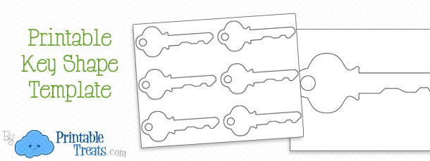 Printable Key Shape Template Printable Treats