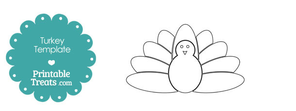 Printable Kids Turkey Shape Template