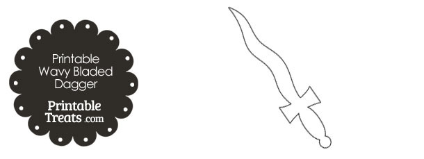 printable kris wavy bladed dagger printable treats com