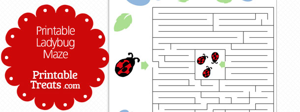 photo relating to Printable Ladybug identified as Printable Ladybug Maze Printable