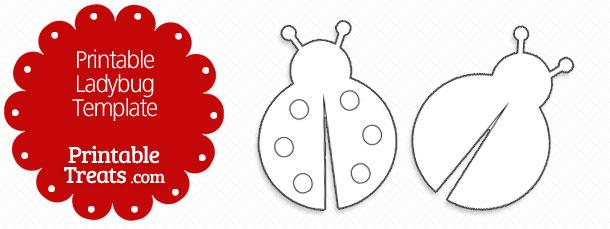 printable ladybug template printable treats com