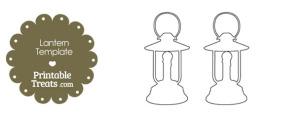Printable Lantern Shape Template