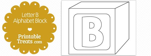 Printable Letter B Alphabet Block Template Printable Treats Com