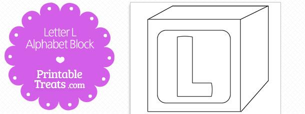 Printable Letter L Alphabet Block Template — Printable Treats.com