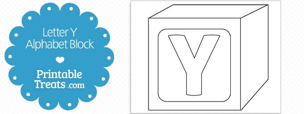 free printable letter y alphabet block template