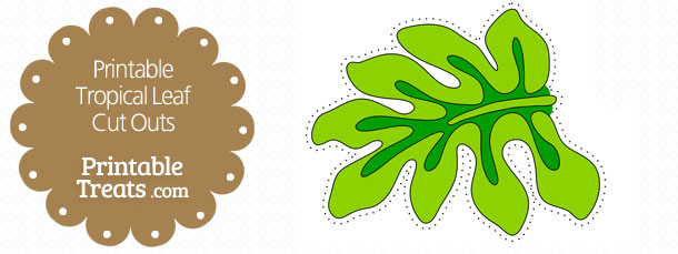 Free Printable Light Green Tropical Leaf Cut Outs