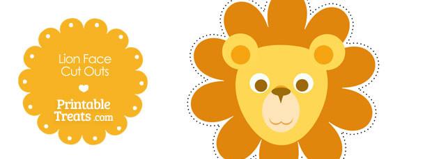 photo regarding Lion Printable named Printable Lion Confront Slice Outs Printable