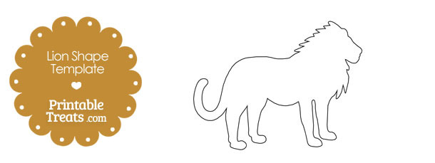 printable lion shape template printable treats com