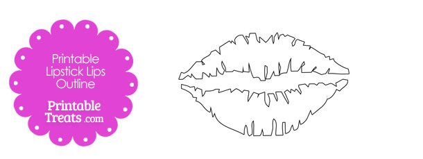 Printable Lipsticks Lips Outline