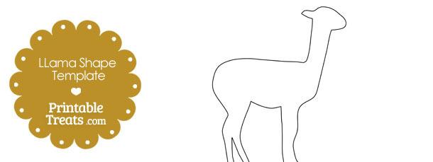 printable llama shape template printable treats com