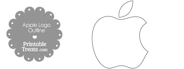 Printable Mac Apple Logo Outline