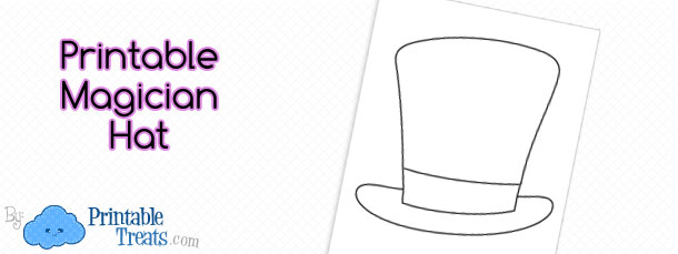 graphic relating to Hat Printable named Free of charge Printable Magician Hat Printable
