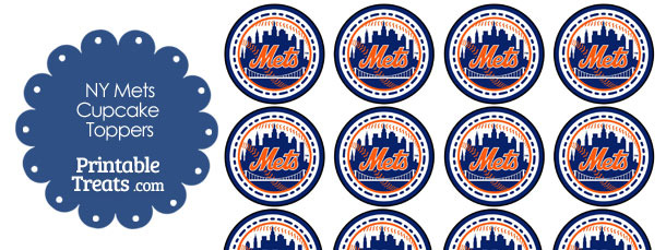 Printable Mets Logo Cupcake Toppers