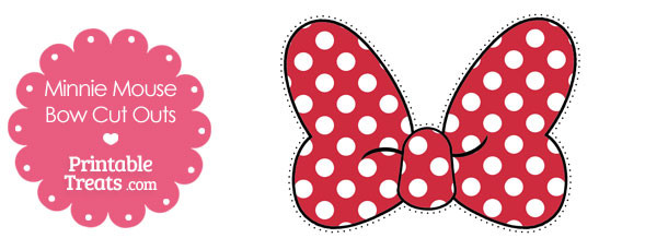 Printable minnie mouse bow cut outs printable for Free printable minnie mouse bow template
