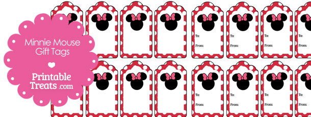 Printable Minnie Mouse Gift Tags — Printable Treats.com