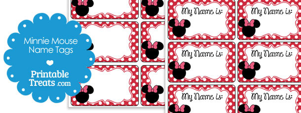 printable minnie mouse name tags printable treats com