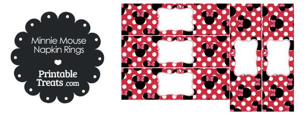 Astonishing Printable Minnie Mouse Napkin Rings Printable Treats Com Interior Design Ideas Gresisoteloinfo