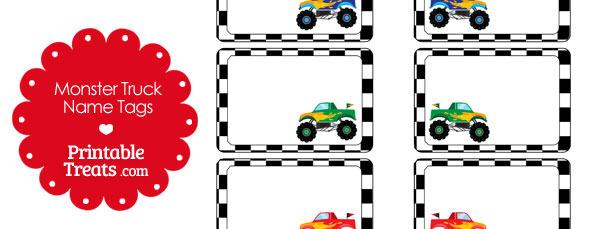 picture regarding Monster Truck Printable known as Printable Monster Truck Popularity Tags Printable