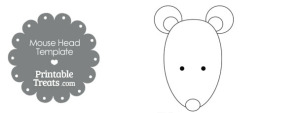 Printable Mouse Head Template