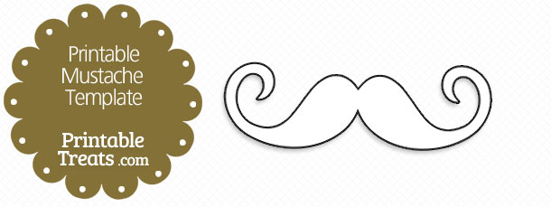 printable mustache template printable treats com