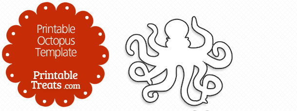 graphic regarding Printable Octopus identified as Printable Octopus Template Printable