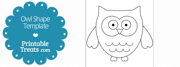 free printable owl shape template