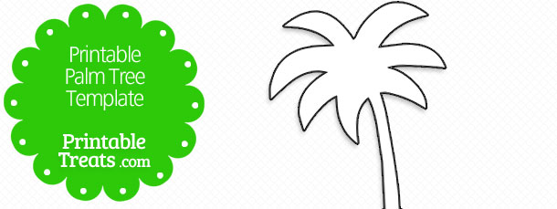graphic about Palm Leaf Template Printable known as Printable Palm Tree Template Printable