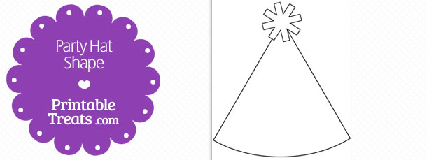 Printable Party Hat Shape Template Printable Treats