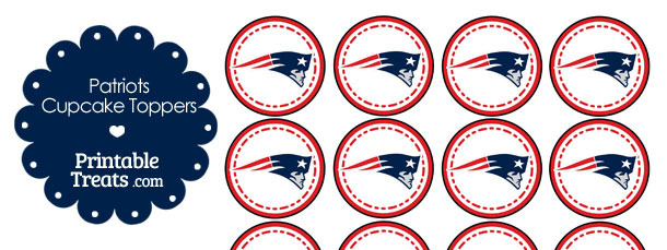 photo about Printable Patriots Logo referred to as Printable Patriots Emblem Cupcake Toppers Printable