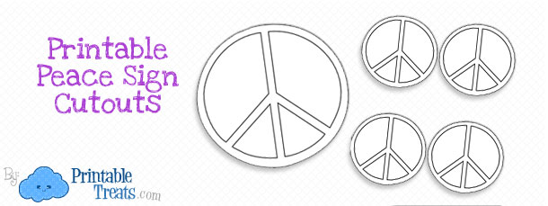 graphic relating to Printable Peace Signs referred to as Printable Leisure Indication Cutouts Printable