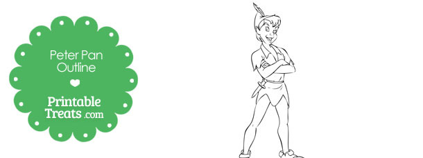 Printable Peter Pan Outline