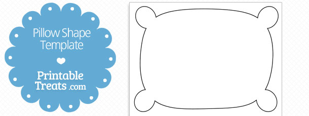 Printable pillow shape template printable treats free printable pillow shape template maxwellsz
