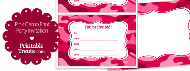 graphic relating to Camo Printable known as Printable Red Camo Invites Printable