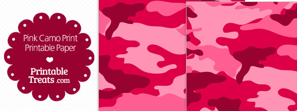 image about Camo Printable identified as Printable Crimson Camo Paper Printable